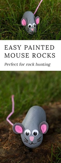 If your family has caught the rock hunting bug, you will love making a painted rock mouse. This fun painted rock craft is perfect for kids! via @https://www.pinterest.com/fireflymudpie/