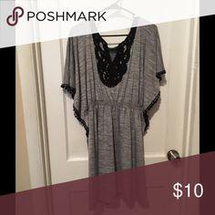 Black and grey dress. Worn once. Dresses Midi
