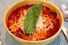 Lasagna Soup With Zoodles {Gluten Free Recipe With Paleo Option}