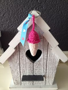 Sleutelhanger Ijsje Haken Pinterest Crochet En How To Make