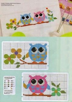 This Pin was discovered by Ham Cross Stitch Owl, Cross Stitch Kitchen, Cross Stitch Borders, Cross Stitch Animals, Cross Stitch Charts, Cross Stitch Designs, Cross Stitching, Cross Stitch Embroidery, Cross Stitch Patterns