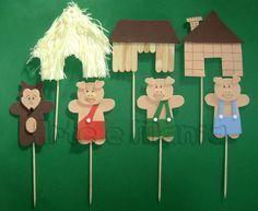 teatrinho 3 porquinhos - Atividades para Educação Infantil
