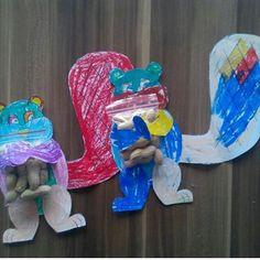 Çocukların kendi boyadıkları sincaplardan karne hediyesi