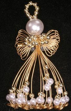 Angel Pin with Faux Pearls