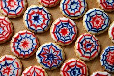 Martha Stewart did them on the cover this month, and the food blogging world has taken on the challenge. Personally I think they evoke Spiderman rather than 4th of July, but whichever you see they are fabulous.
