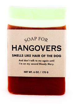 Buy Whiskey River Co: Soap - For Hangovers online and save! Whiskey River Co: Soap – For Hangovers The pounding headache, the cold sweat, the I'm-totally-gonna-vom-on-my-way-to-work feeling… yeah, we're famili. Whiskey River Soap, Hangover Remedies, Soap Gifts, Decorative Soaps, Soap Company, Best Soap, Bloody Mary, Good Ol, Soap Making