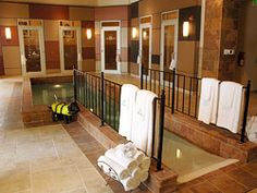 Small indoor pool. Pool side suites