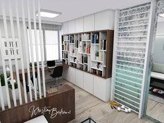 Návrh interiéru pracovne Keď práca teší, pohľad rebriny a odkladaciu časť Divider, Study, Furniture, Home Decor, Homemade Home Decor, Studio, Home Furnishings, Learning, Research