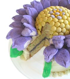 Funfetti Peeps Blossom Cake Recipe Tutorial http://baking911.com/cakes/cake-mix/funfetti-peeps-blossom-cake