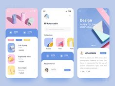 Ice Cream Color - UI by Angelia Lee for CoCo on Dribbble Ui Design Mobile, App Ui Design, User Interface Design, Flat Design, Web Design Color, Layout Design, Apps, App Design Inspiration, Daily Inspiration