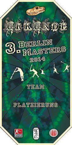 urkunde 3. Berlin Masters 2014