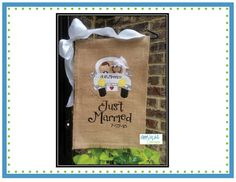 Just Married Getaway Car Girl Applique Design, has other cute designs for mr&mrs