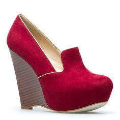 Yes....another velvety loafer-style wedge with eclectic textures. How amazing is the color though?