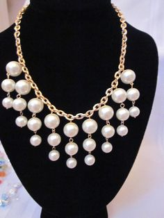 Pearl Necklace The Petite Caroline Gold & Pearls by CreationsbyCynthia1
