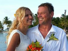 Aleksander & Ida enjoyed a small family wedding at Pigeon point Heritage Park with three guests  more at http://real-destination-weddings.blogspot.com/  #small #family #weddings #abroad #Tobago