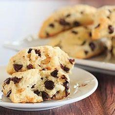 Chocolate Chip Scones via @browneyedbaker