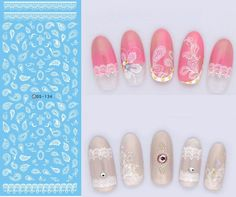 DS134 2017 New Water Transfer Nails Art Sticker White Lace Leaf Nail Wrap Sticker Tips Manicura French Designer