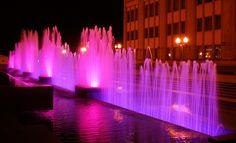 dancing fountains of Minsk, in Belarus