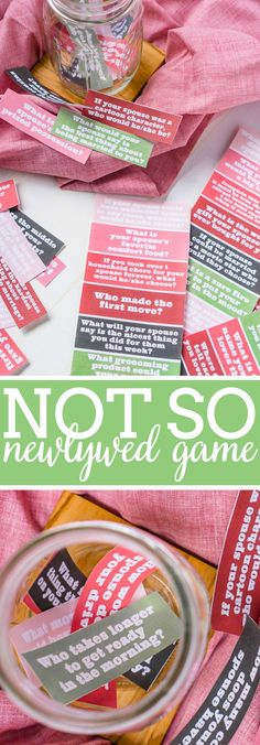 The Not So Newlywed Game is a Couples Question Game that tests how well you really know your partner! Enjoy as a cozy at home date night or host a fun couples game night. Challenge your knowledge of one another and hopefully learn something new! | The Love Nerds #couplesquestions #datenightathome #couplesgames via @lovenerdmaggie