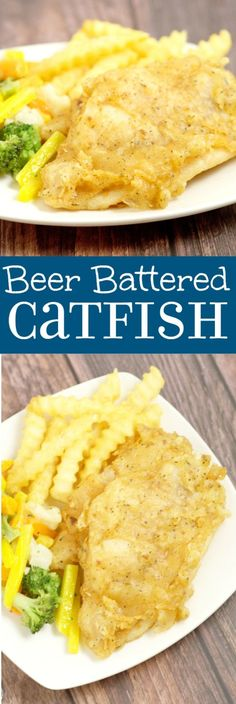 Beer Battered Catfish Fry Recipe - an easy and delicious family dinner recipe idea. Catfish is covered in a flavorful, zesty, and slightly spicy beer batter, then deep fried to golden perfection. Beer Recipes, Cookbook Recipes, Seafood Recipes, Cooking Recipes, Game Recipes, Rib Recipes, Recipies, Vegan Recipes, Beer Batter Catfish Recipe
