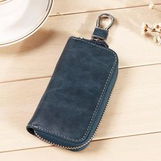 Women Men Leather Zipper Portable Car Key Bags Keys Pouch Card Wallet Sale - Banggood.com