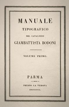 Giambattista Bodoni.