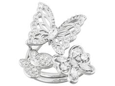 Bella Luce (R) 2.10ctw Rhodium Over Sterling Silver Ring (1.43ctw Dew)