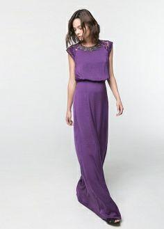 Medium tencel dress - Dresses - Women - MANGO
