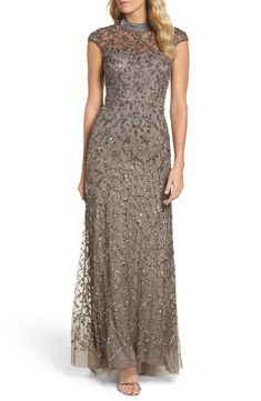 online shopping for Adrianna Papell Embellished Mesh Gown from top store. See new offer for Adrianna Papell Embellished Mesh Gown Mob Dresses, Formal Dresses For Women, Mother Of Groom Dresses, Mother Of The Bride, Vestidos Marisa, Wedding Attire, Wedding Dresses, Bride Dresses, Beaded Gown
