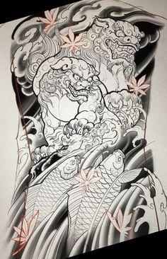 Hannya Mask Tattoo, Fu Dog, Asian Tattoos, Oriental Tattoo, Irezumi Tattoos, Geisha, Sketching, Dragon, Japanese