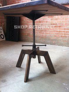 Vintage Industrial Cafe Table Adjustable by VintageIndustrial