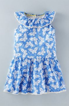 Mini Boden 'Summer Ruffle' Print Dress (Toddler Girls, Little Girls & Big Girls)