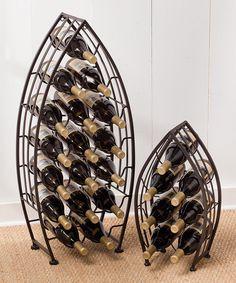 Metal Boat Wine Rack Set