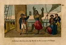 "natives II english 1821 hand coloured engraving 2 x 3"" $25"
