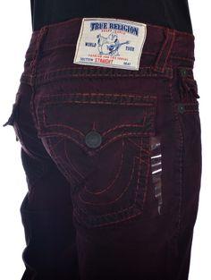True Religion Mens Jeans Size 34 Straight w/ Flaps Super T Hammer Down NWT $409 #TrueReligion #ClassicStraightLeg