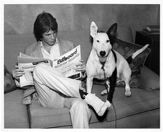 Rick Springfield and his dog Ron, about 1982 or thereabouts.