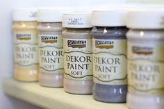 Dekor Paint termékcsalád – Termékismertető #beedee #beedeescrap #DIY #pentart #pentacolor #tutorial #paint #dekorpaintsoft Paint Paint, Annie Sloan, Decoupage, Shabby Chic, Crafts, Diy, Painting, Vintage, Creative