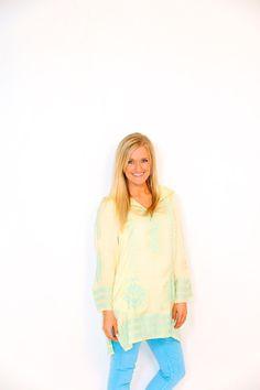 Fischer & Aniston — Ivy Jane Yellow Hooded Tunic www.ivyjane.com