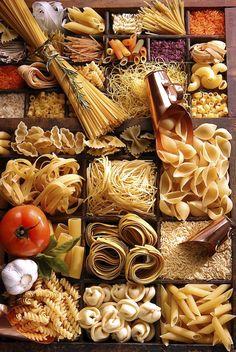 © Alexander Landau - Pot-pourri de pâtes - TUTO Photographie culinaire NIKON D100 - 2003