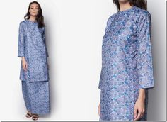 Minimalist Baju Kurung For Raya 2016 / purple-floral-baju-kurung