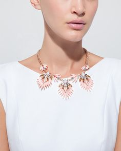 Rose Feather Necklace by JewelMint.com, $29.99