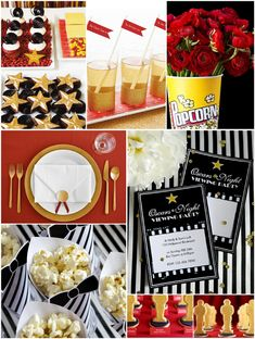 Bird's Party Blog: Oscars Party: Last Minute Party Ideas and Inspiration