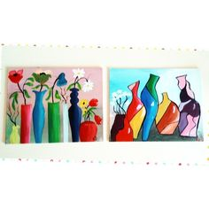 Painting Flowers And Vase, Acrylic Canvas Art Homeware Kichen Lounge Wall Decor £25.95