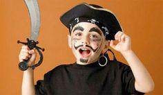 Trucco di Halloween per bambini da pirata