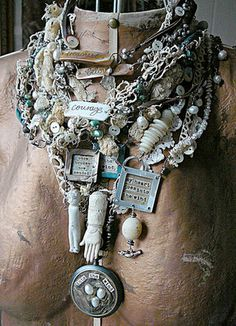 Necklace named The gatherings of Miss Haversham The Constant Gatherer: Nina Bagley http://theconstantgatherer.blogspot.co.uk/2009/03/nina-bagley.html