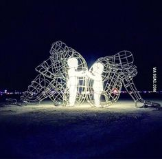 Artwork from Burning Man. Pretty powerful.