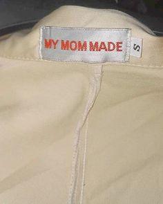 'my mum mom made this' label, not homemade