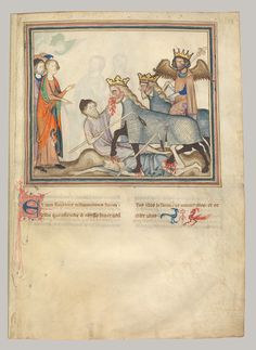 Manuscript of the Apocalypse, ca. 1330  Normandy  Paint, gold, silver, and brown ink on vellum    The Cloisters Collection, 1968 (68.174)