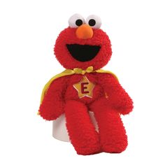 GUND are proud to work with Sesame Street with this extensive range of plush items featuring the iconic characters in several formats. Elmo is a Superhero and is ready to save the world. Hand washable and suitable from age 1+. This item is CE marked. #Elmo #Superhero #SesameStreet