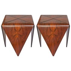 "Original Pair of ""Petala"" Side Tables by Jorge Zalszupin"